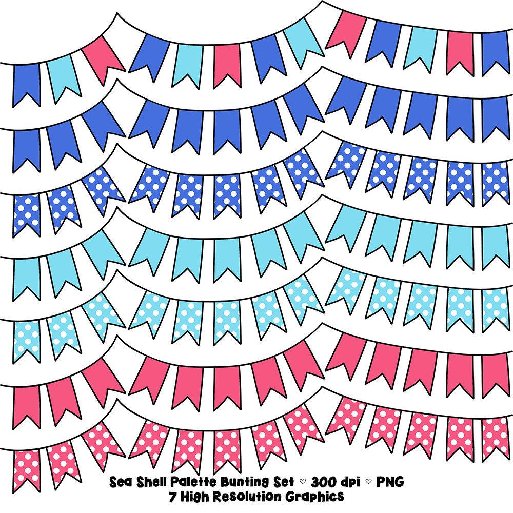 1000x1000 Sea Shell Palette Polka Dot Digital Bunting