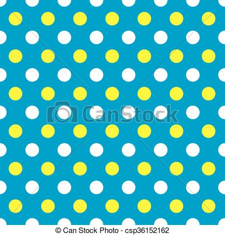 450x470 Seamless Polka Dot Pattern Background In Blue, Yellow And Clip