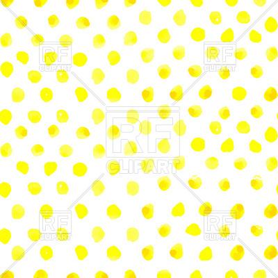 400x400 Seamless Polka Dot Pattern From Watercolor Paint Yellow Circles