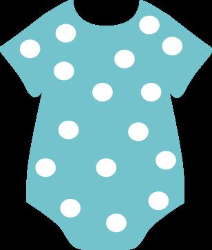 308x362 Teal Polka Dot Onesie Clip Art
