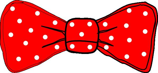 600x280 Bow Tie Red Polka Dot Clip Art