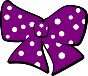 299x261 Bow With Polka Dots Clip Art