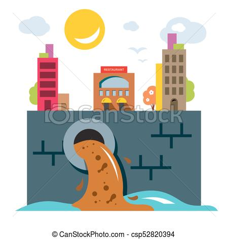 450x470 Environment Pollution. Ecology. Flat Style Colorful Vector Eps