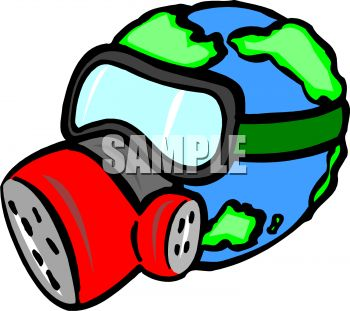 350x311 Planet Earth Wearing A Gas Mask To Protect Against Pollution