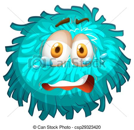 450x435 Pom Pom With Crying Face Illustration Vector Illustration