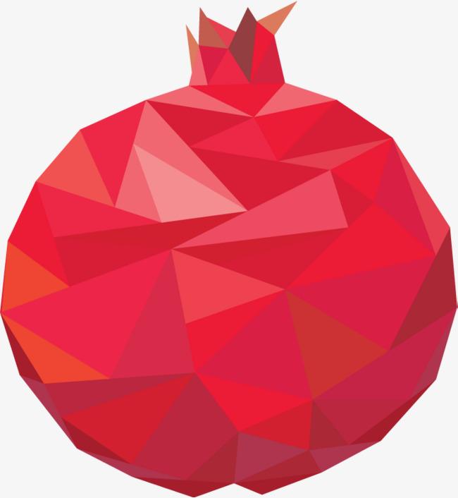 650x706 Mosaic Pomegranate, Mosaic, Creative Fruit, Mosaic Fruit Png Image