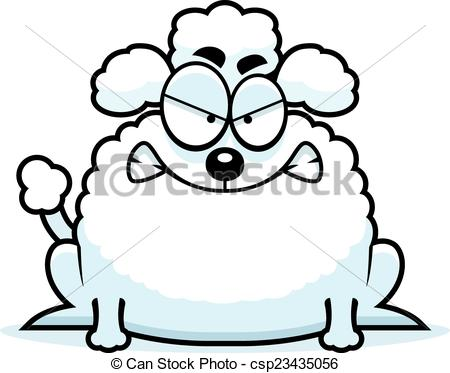 450x373 Mad Little Poodle. A Cartoon Illustration Of A Little Poodle