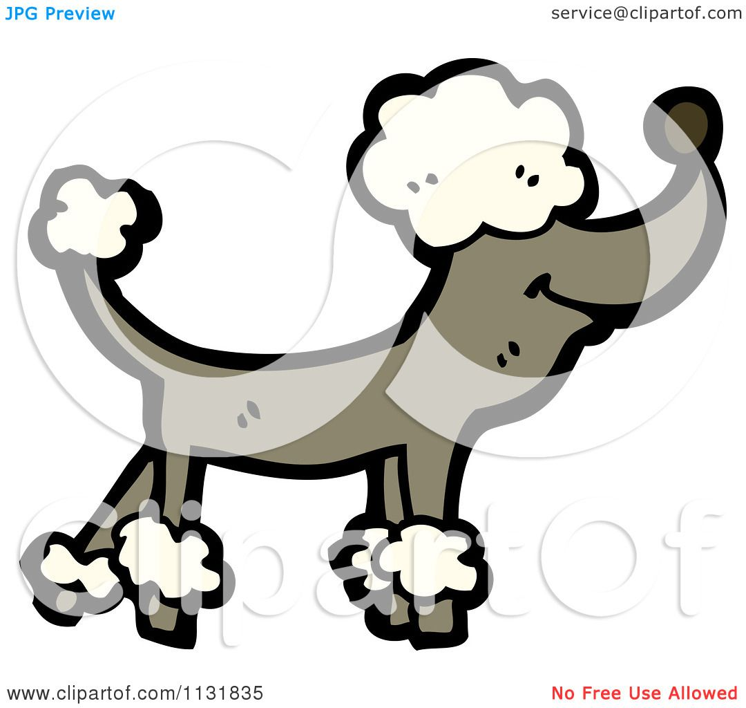 1080x1024 Cartoon Of A Brown Poodle