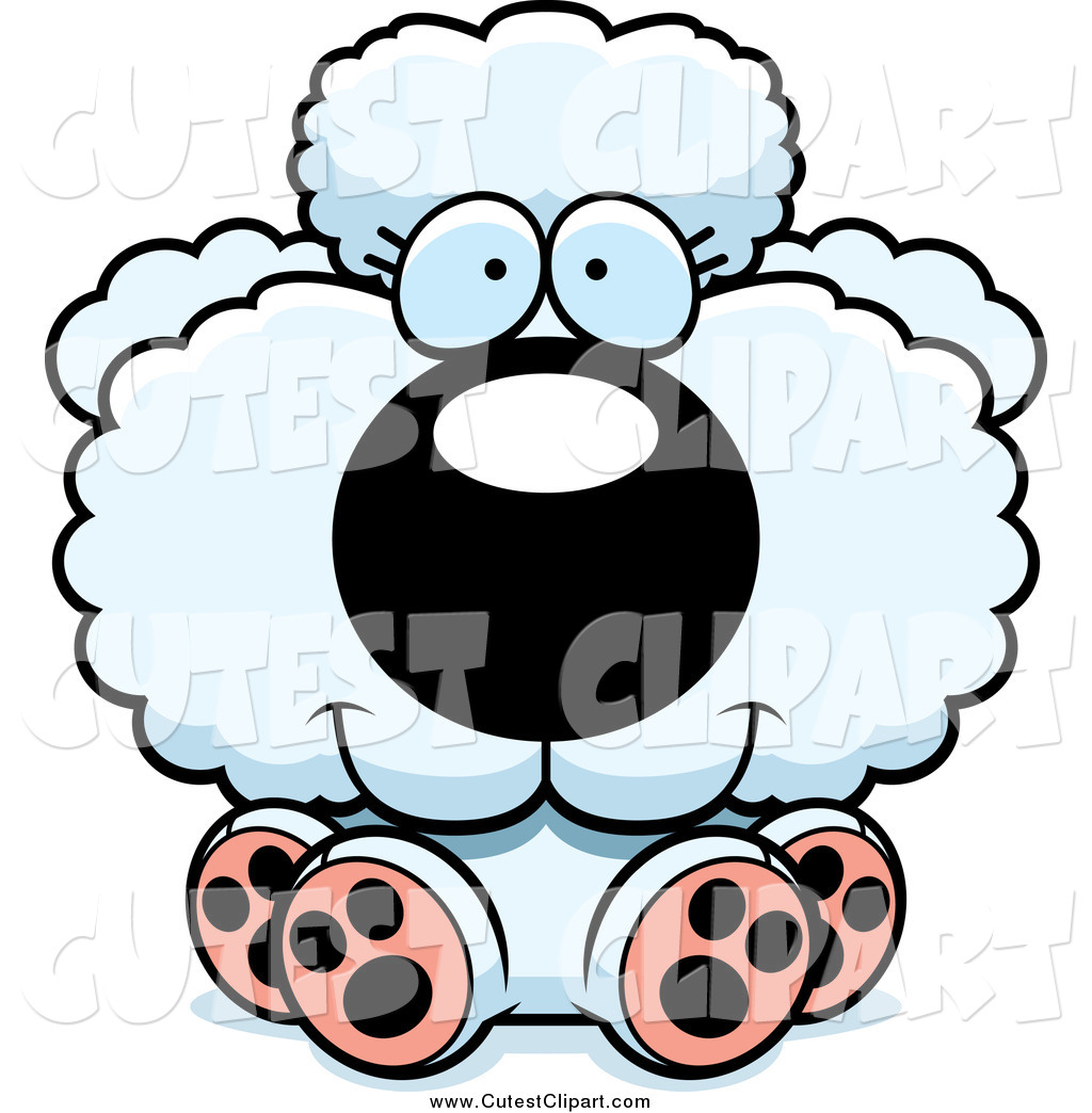 1024x1044 Cartoon Vector Clip Art Of A Cute White Poodle Sitting By Cory