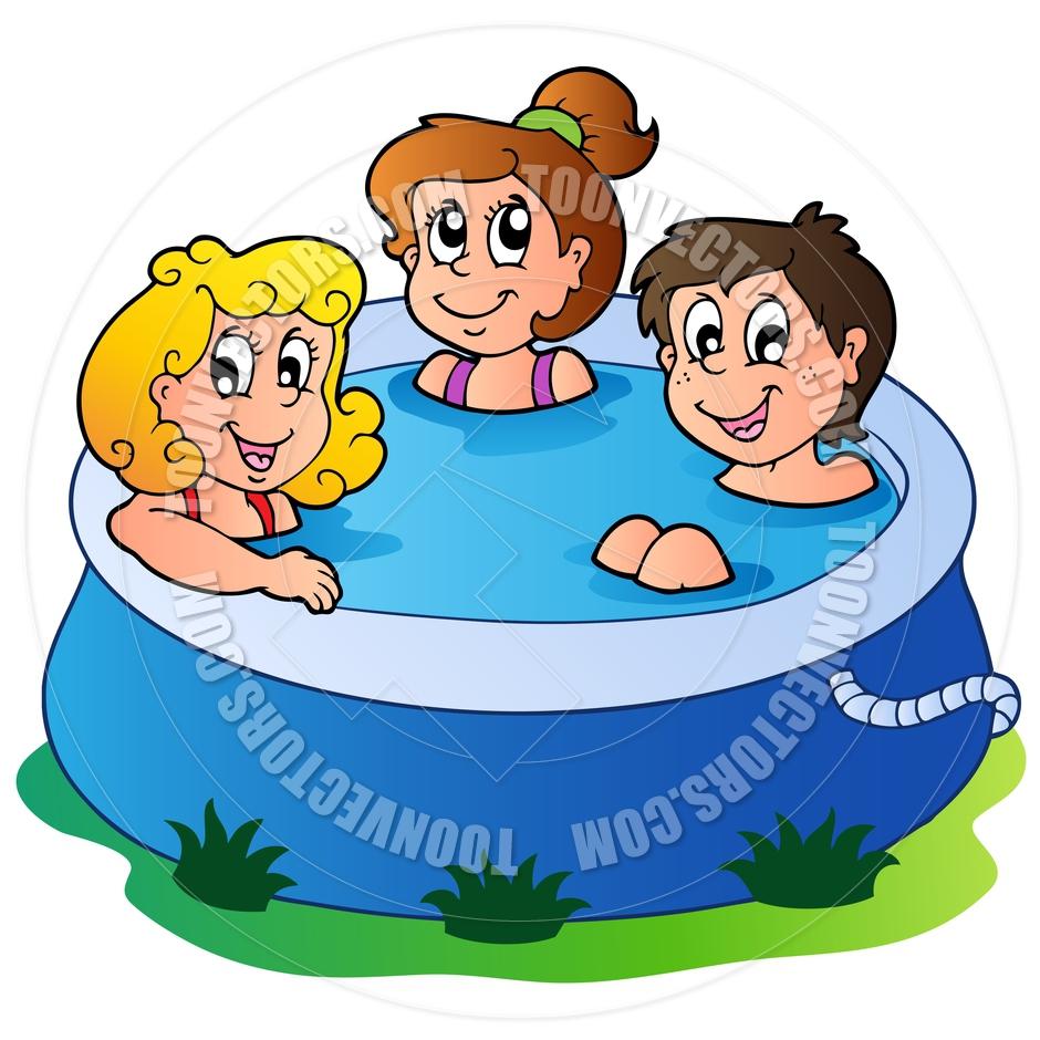 940x940 Kids In Pool Clipart