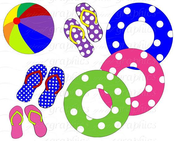 570x456 Pool Party Clip Art, Digital Pool Party, Digital Clip Art, Pool