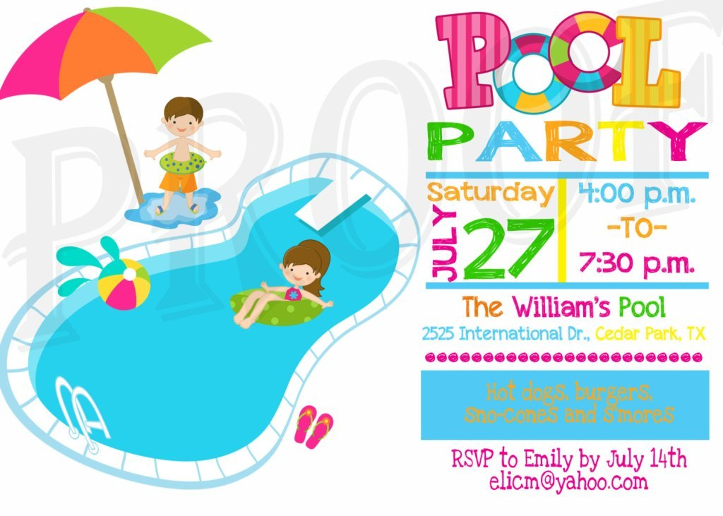 Pool Party Clipart at GetDrawings.com | Free for personal use Pool ...