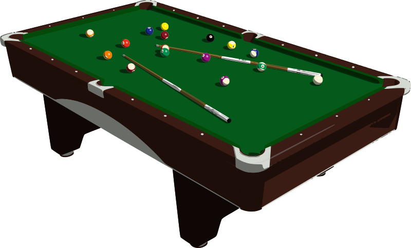 800x483 Free Clipart Pool Table Mazeo