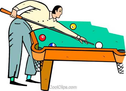 480x348 Man Playing Pool Royalty Free Vector Clip Art Illustration