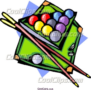 300x295 Pool Table With Ball And Cues Clip Art