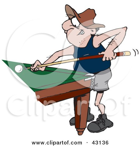 450x470 Royalty Free (Rf) Man Playing Pool Clipart, Illustrations, Vector