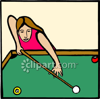 350x346 Woman Playing A Game Of Pool