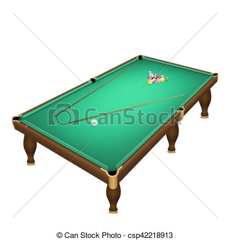 450x470 Billiard Game Balls Start Position On A Realistic Pool Vector