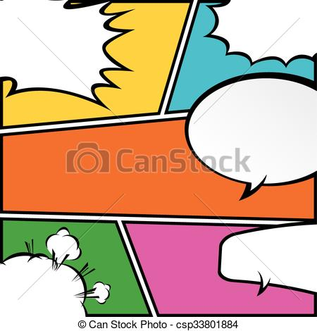 450x470 Comic Template Vector Pop Art. Illustrator Eps 10 Vector