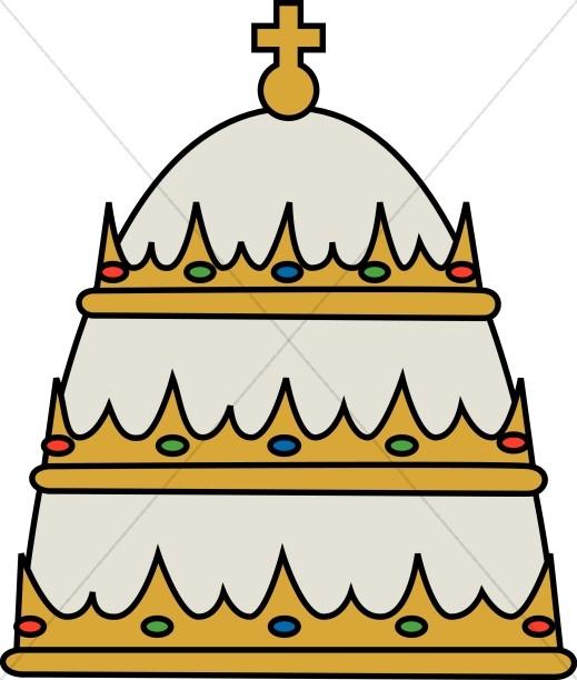 519x612 Pontif's Hat Papal Clipart