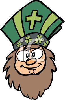 230x350 Cartoon Of Saint Patrick