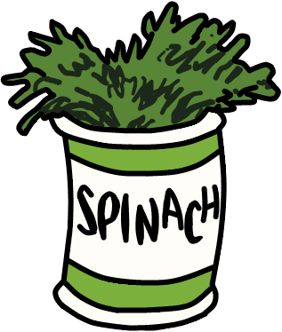 317x374 Popeyes Spinach Clipart