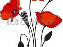 220x165 Poppy Flower Clip Art Poppy Floral Background Abstract Floral Red