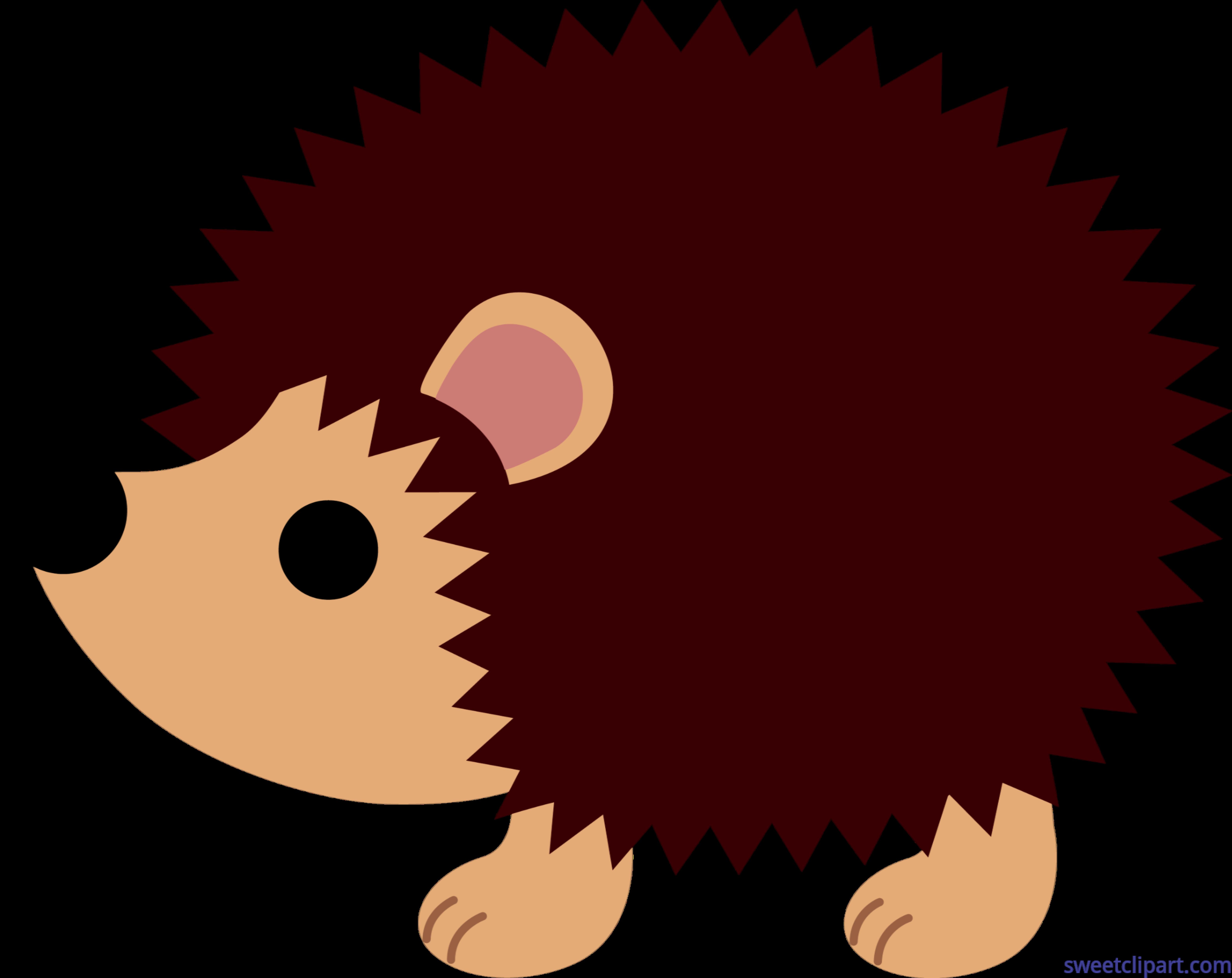 6268x4975 Cute Hedgehog Clip Art