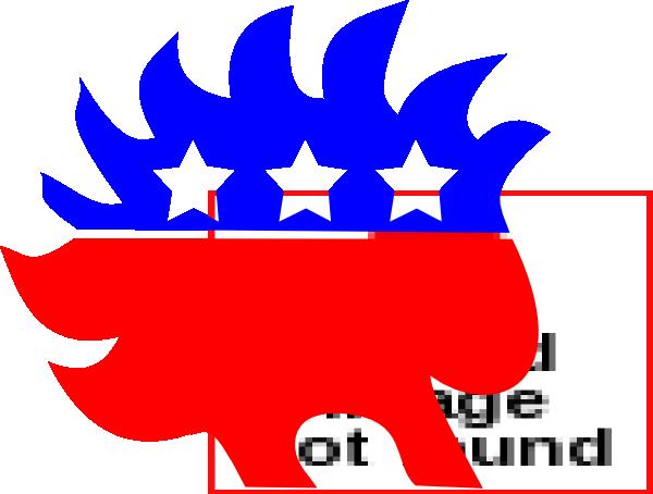 600x454 Libertarian Porcupine Clip Art
