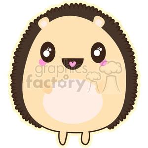 300x300 Royalty Free Porcupine Cartoon Character Vector Clip Art Image