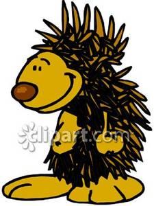 225x300 Smiling Cartoon Porcupine