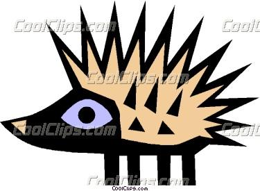 375x275 Cool Porcupine Vector Clip Art Clipart Panda