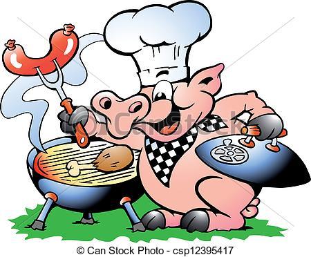 450x372 Chef Pig Vector Clipart Illustrations. 417 Chef Pig Clip Art