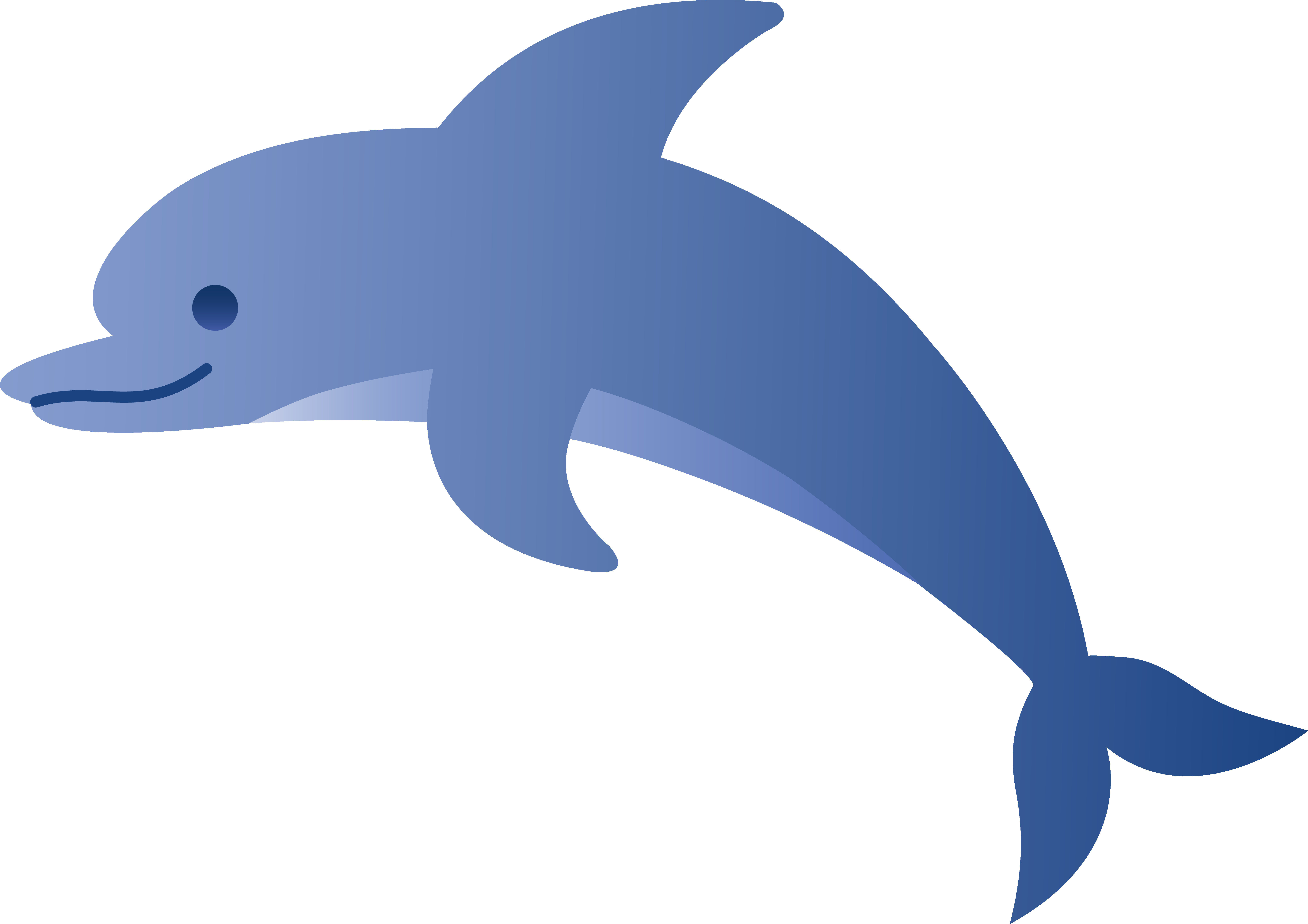 6883x4862 Cute Blue Dolphin Free Clip Art And Clipart Thatswhatsup