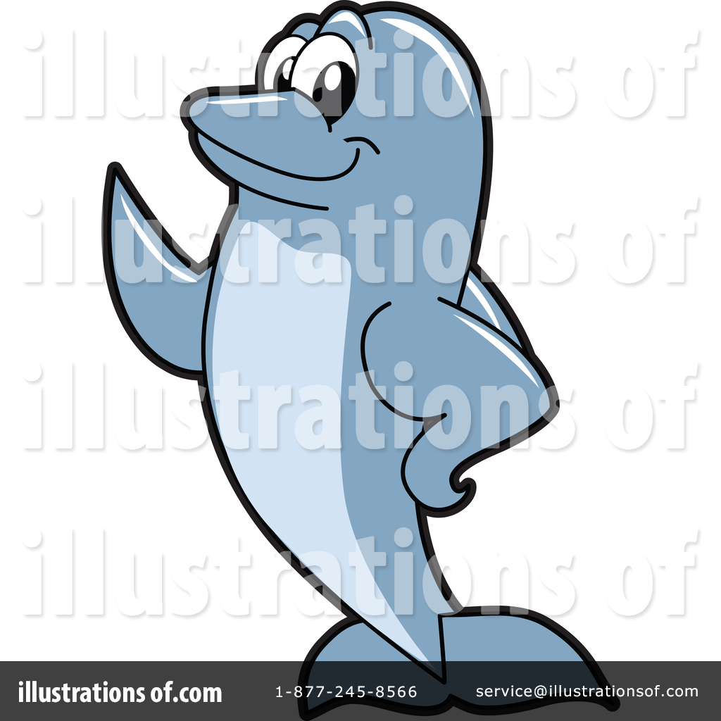 1024x1024 Dolphin Mascot Clipart