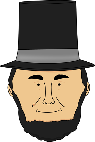 334x500 Stylish Abe Lincoln Clipart Abraham Clip Art Face