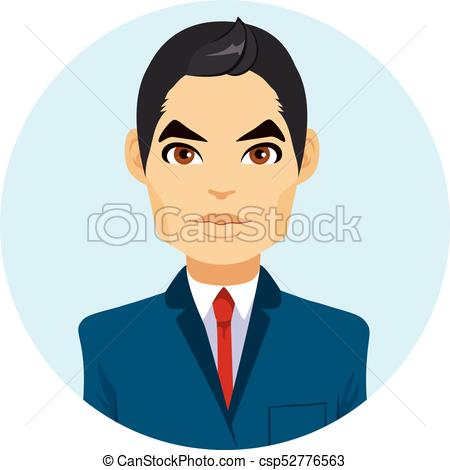 450x470 Asian Man Avatar. Young Attractive Asian Man Portrait Avatar