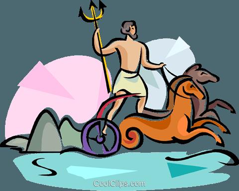 480x384 Greek Gods Poseidon God Of The Sea Royalty Free Vector Clip Art