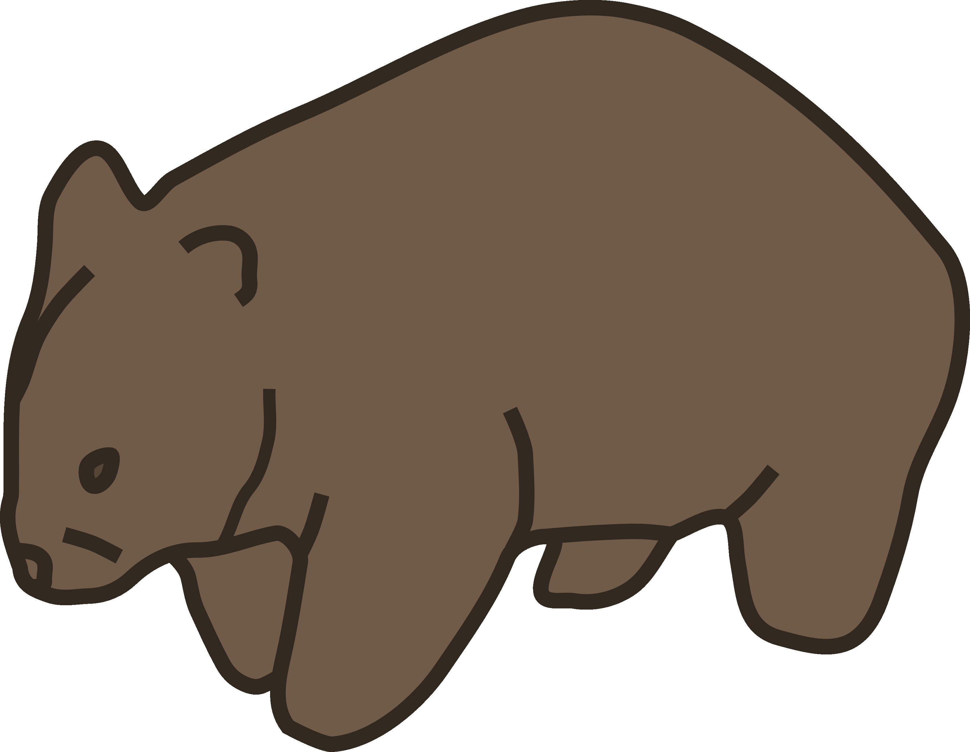 3333x2582 Wombat Clip Art