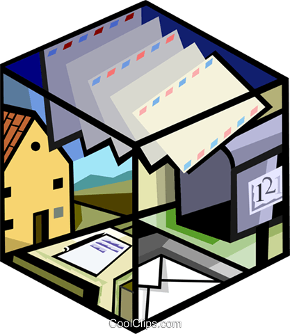 417x480 Mail, Post Office Royalty Free Vector Clip Art Illustration