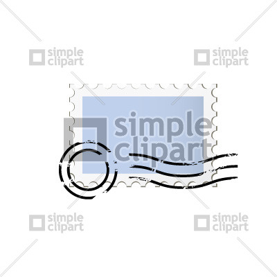 400x400 Postage stamp Vector Image