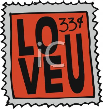 330x350 Royalty Free Clip Art Image Love Postage Stamp