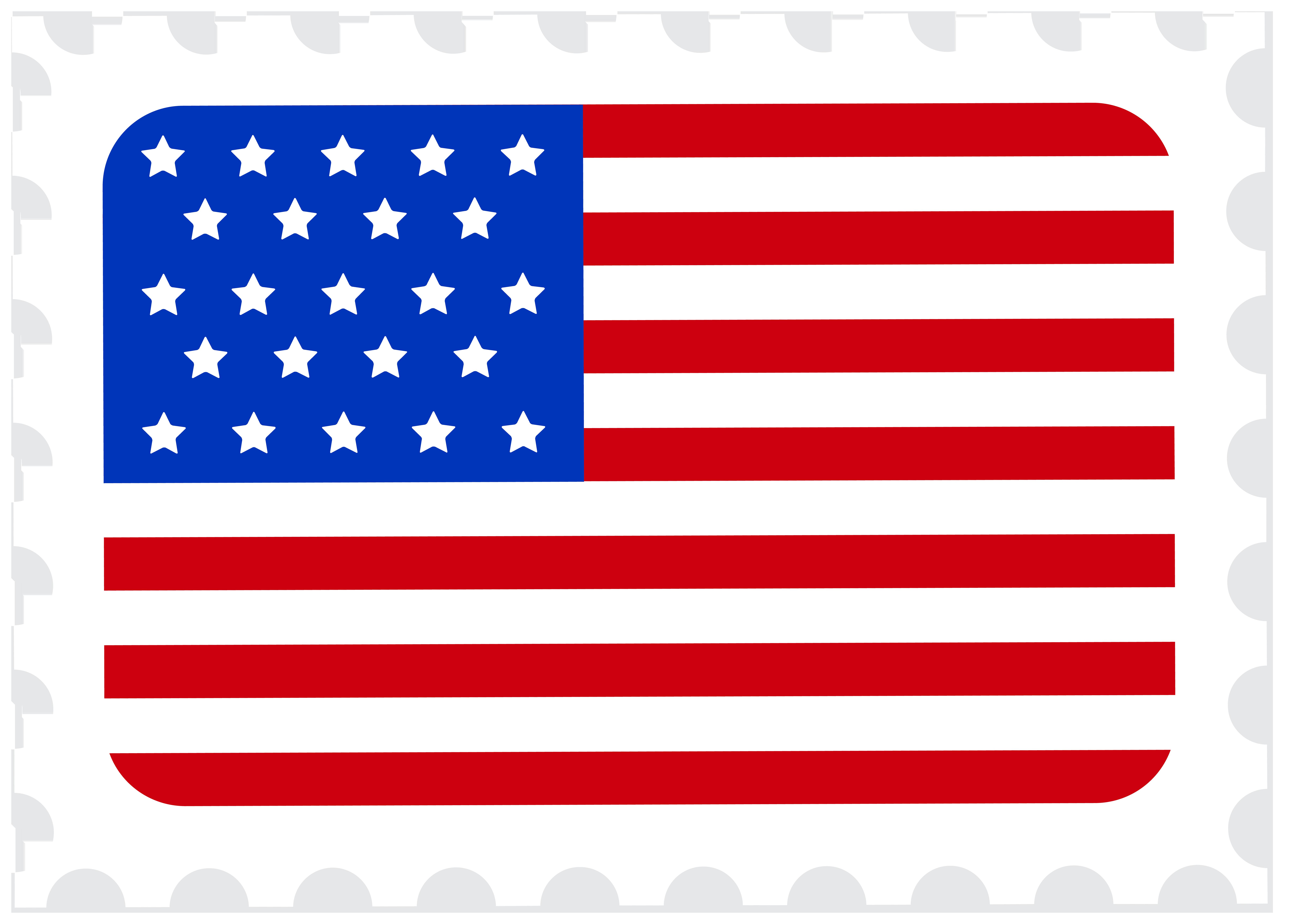 8000x5733 USA Flag Postage Stamp PNG Clip Art Imageu200b Gallery Yopriceville