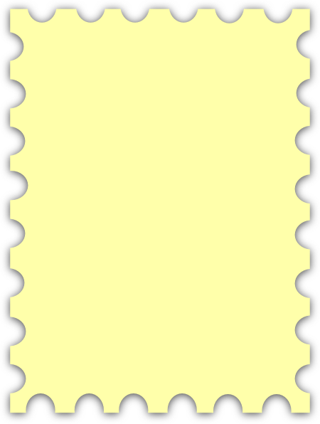 450x596 Yellow Blank Postage Stamp Clip Art