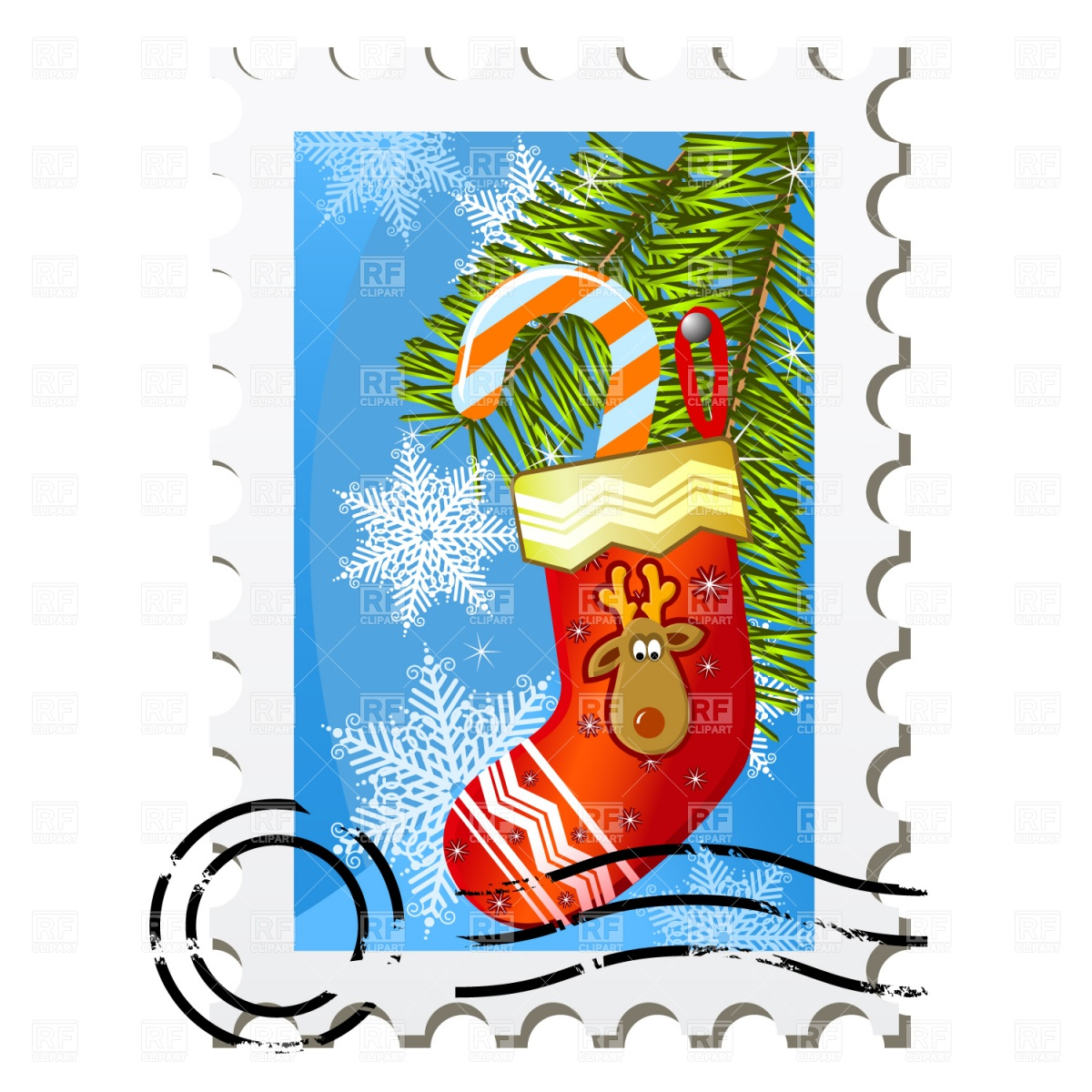 1200x1200 Christmas Stamp Clipart
