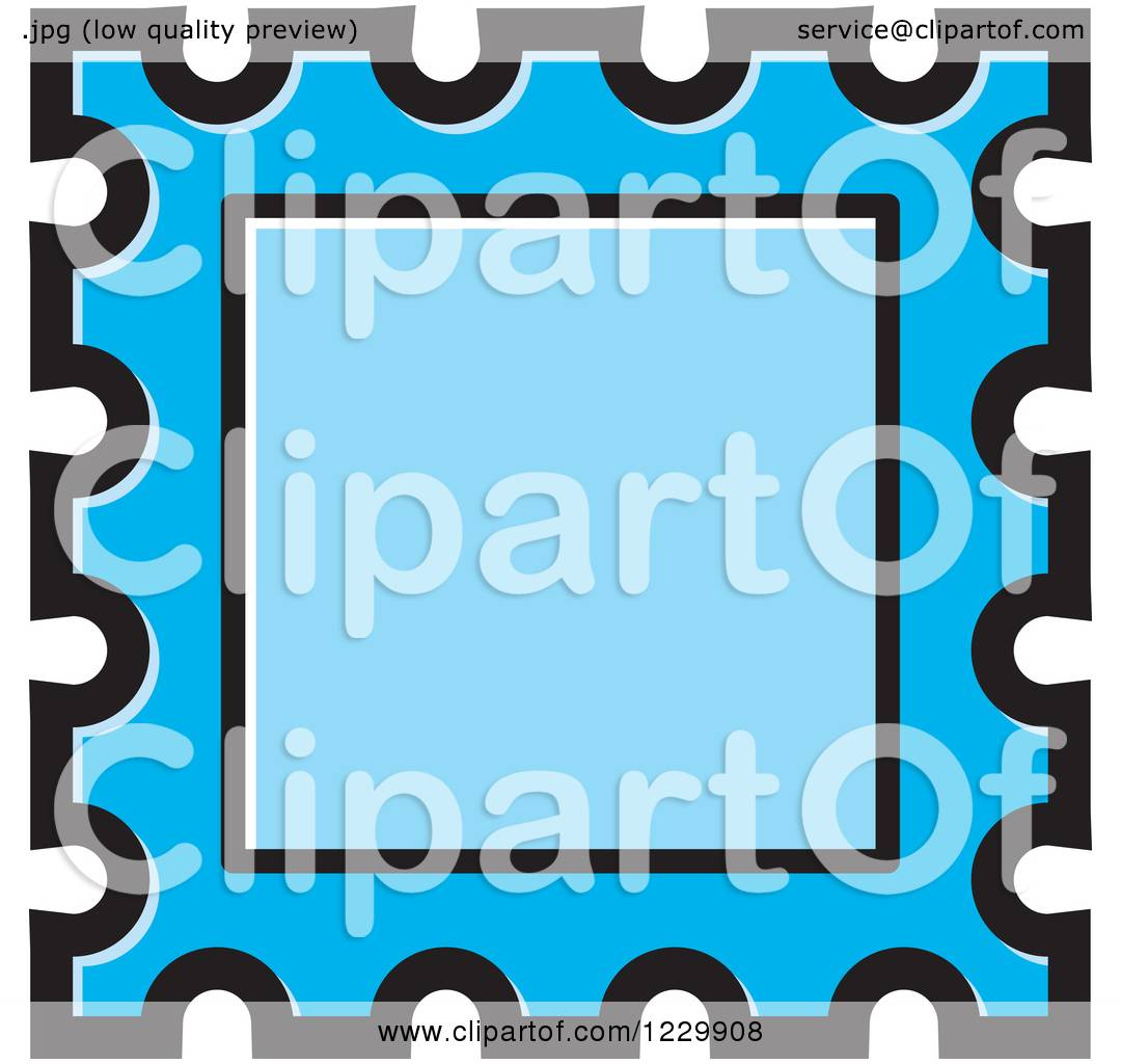 1080x1024 Clipart Of A Blue Postage Stamp Or Frame Icon