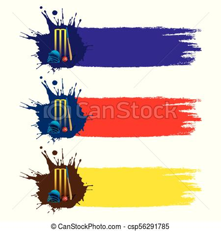 450x470 Colorful Cricket Banner Or Poster Design. Abstract Colorful