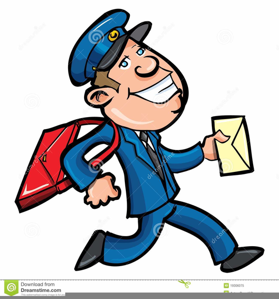 561x600 Animated Postman Clipart Free Images