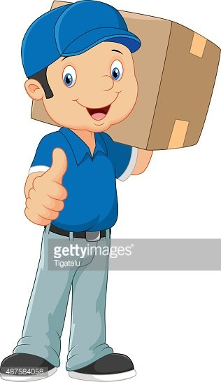 316x545 Cartoon Postman Gives Thumb Up Stock Vectors