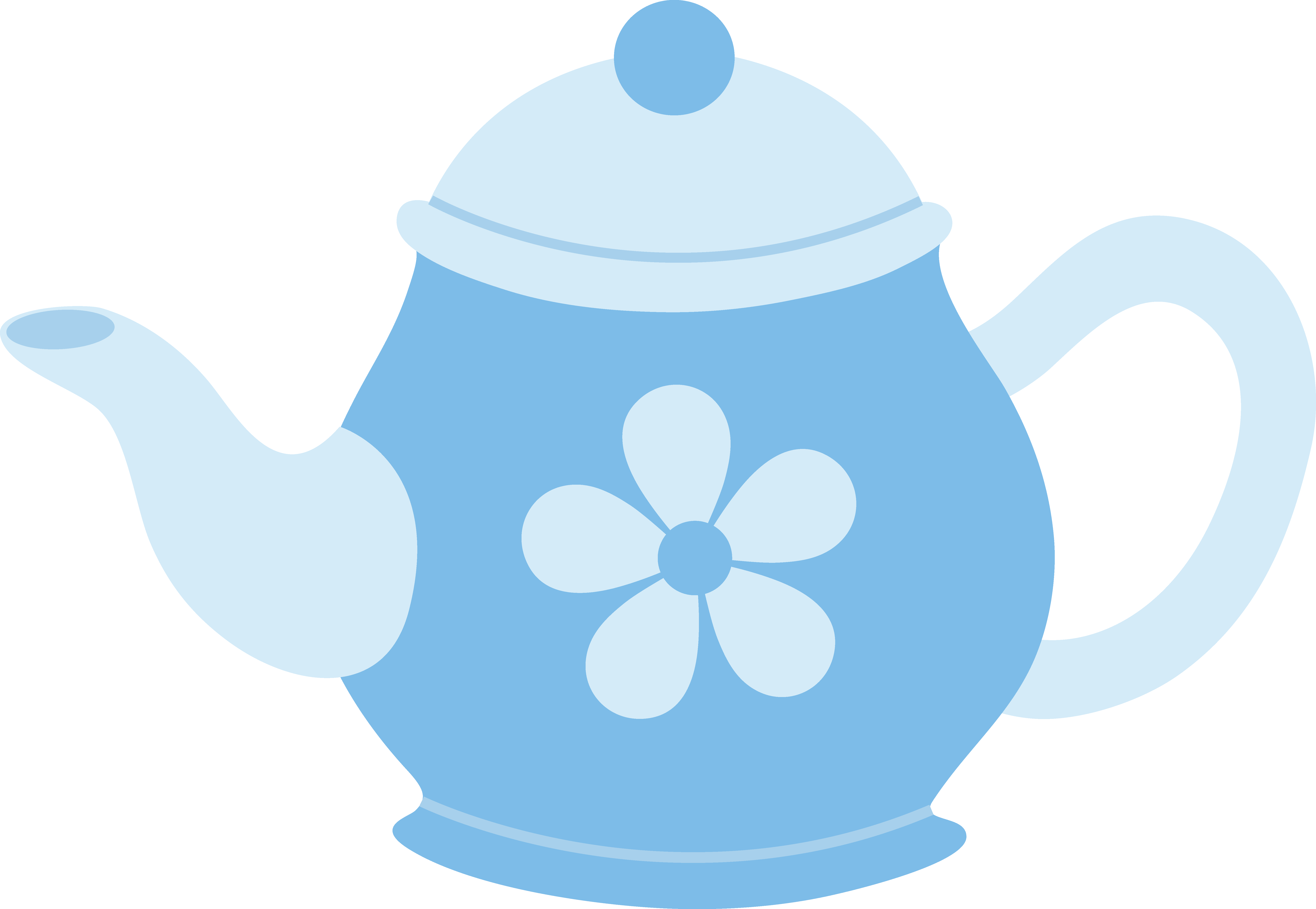 7108x4910 Blue Teapot With Flower